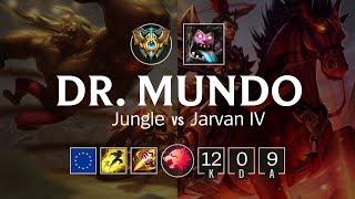 Dr. Mundo Jungle vs Jarvan IV - EUW Challenger Patch 8.9