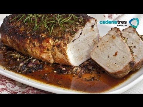 Receta de como preparar lomo de cerdo a la hierbas. Receta carne de puerco / Receta comida mexicana