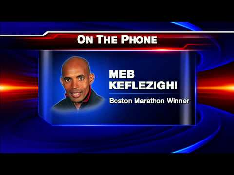 2014 Boston Marathon Winner Meb Keflezighi Live on the KUSI News at 6PM with Paul Rudy