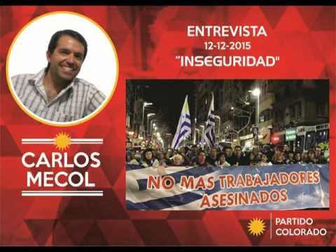 INSEGURIDAD - opina Carlos Mecol en entrevista - Flores - Trinidad - Uruguay