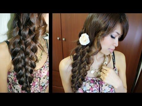 Mermaid Tail Side Braid Hairstyle Hair Tutorial - Sellő copf készítése