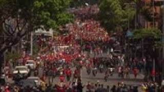 Supporters of Maduro march through Caracas