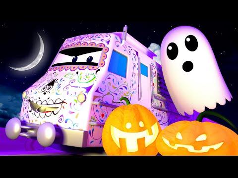 Parada Halloween W Mieście! - Lokomotywa Troy W Mieście Pociągów   Bajka Dla Dzieci