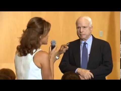 Syrian Woman Rips Into McCain At Town Hall For His Support For Bombing Syria 9 5 2013