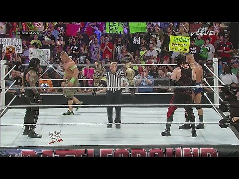 WWE Battleground 2014 : John cena vs Roman Reigns vs Kane vs Randy orton