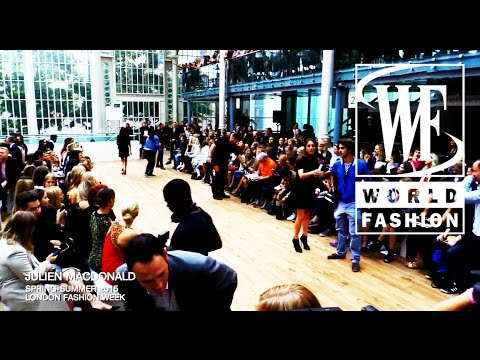 Front Row Julien Macdonald Spring-Summer 2015 London Fashion Week