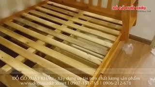 Cung cấp Giường tầng trẻ em tại huyện Bình Chánh TP HCM - video clip thực tế tại nhà khách hàng