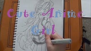 Cute Japanese Anime Girl Colour