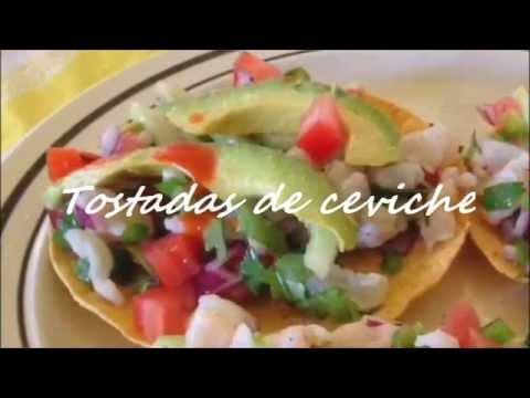 Tostadas de ceviche, COCINA FACIL Y PRACTICA