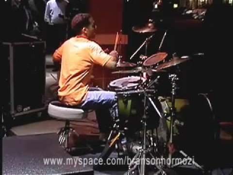 Me having fun at the Guitar Center Drum Off Competition...First place October 2008.