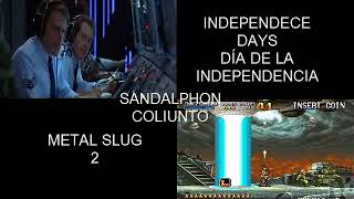 Comparación entre el final de Día de Independencia y Metal Slug 2