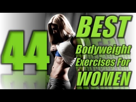 44 Best Bodyweight Exercises Ever FOR WOMEN #LLTV Image 1