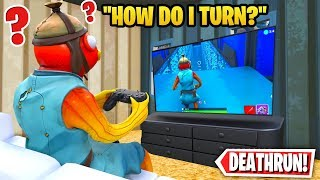 I tried a fortnite deathrun using a controller... (im actually insane)