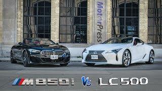 2019 BMW M850i Vs 2019 Lexus LC500 | Head to Head Cabrio Vs Coupe