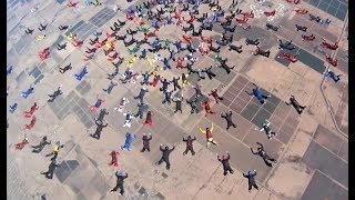 217 People Skydiving At Once