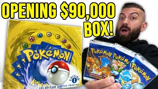 *MUST SEE* Opening RAREST Pokemon Cards Booster Box IN THE WORLD! (1st Edition Base Set!)