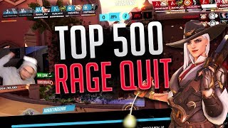 This TOP 500 PC Player RAGE QUIT.. - PS4 Overwatch