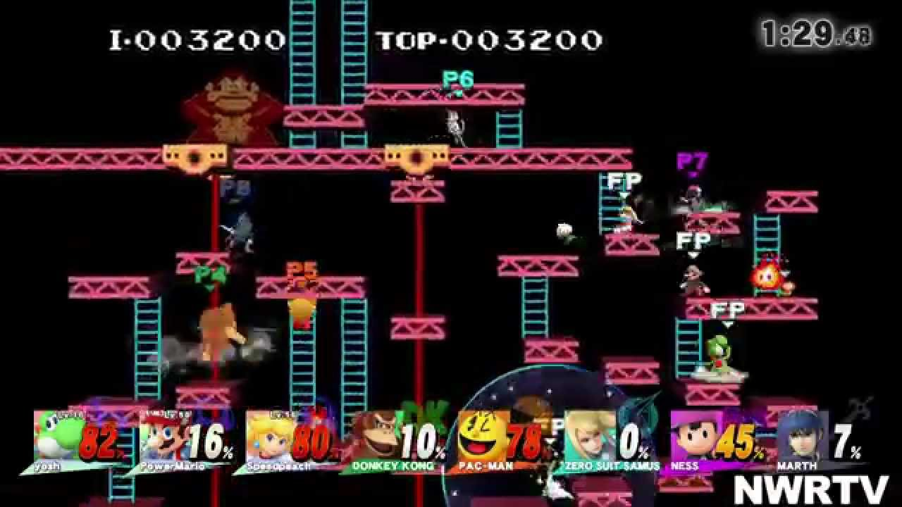 super smash bros wii u donkey kong 75m direct feed youtube