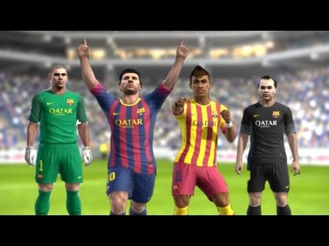 PES 2013 -  Barcelona New Kits 2013 - 2014 | Home/Away | ║HD║