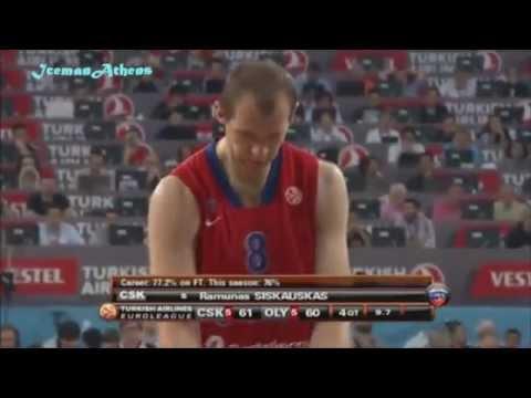 CSKA - OLYMPIAKOS 61-62 ΙΣΠΑΝΙΚΗ περιγραφή! Euroleague Final 2012