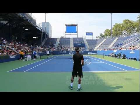 Andy Roddick / Somdev Devvarman 2013 Last Warmup Before Retirement 2012  3 / 10