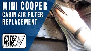 How to Replace Cabin Air Filter 2013 Mini Cooper