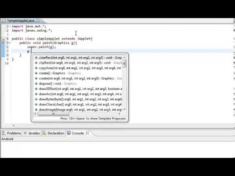 Learn Java in Hindi 52  Applets  learning java