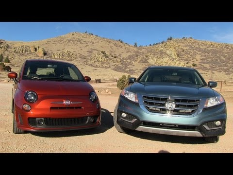 2013 Honda Crosstour vs Fiat 500 Turbo 0-60 MPH Mashup Review