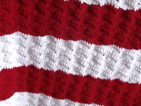 American Flag using wavy shell stitch - YouTube