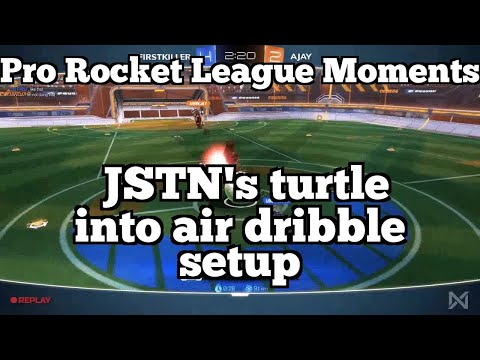Pro Rocket League Moments: JSTN's turtle into air dribble setup