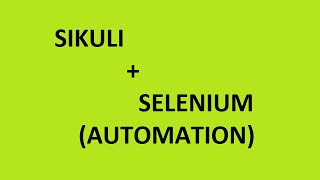 Sikuli with Selenium Automation