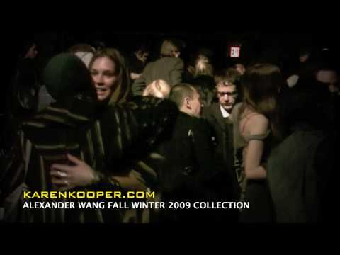 Alexander Wang Fall Winter 2009 Video Backstage by Karen Kooper Video