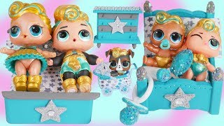 Slumber Party with LOL Surprise Luxe Pet Family + Supreme Barbie Bunk Beds