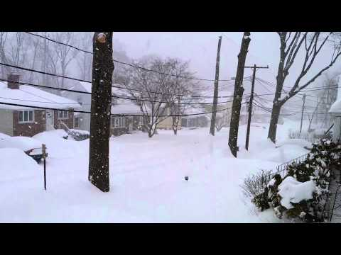 Northeast Noreaster 2014  Winter Storm Pax - Heavy Snow - February 13th - HD