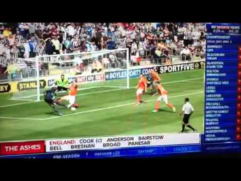 Shola Ameobi vs Blackpool 1-0
