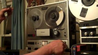 TEAC A-1500 Reel to Reel Tape Deck Serviced Re-Capped and Working. Nice Unit. ZCUCKOO