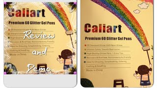 Caliart glitter pens Review & Demo