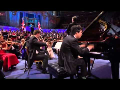 Lang Lang performs Liszt Piano Concerto No. 1 in E flat major during Last Night Proms 2011 inside the Royal Albert Hall. Edward Gardner conducts the BBC Symphony Orchestra.