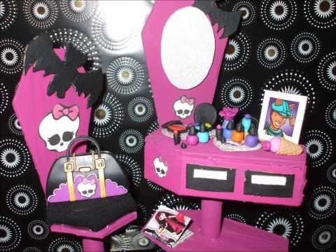 Как сделать мебель для кукол  монстер хай из картона