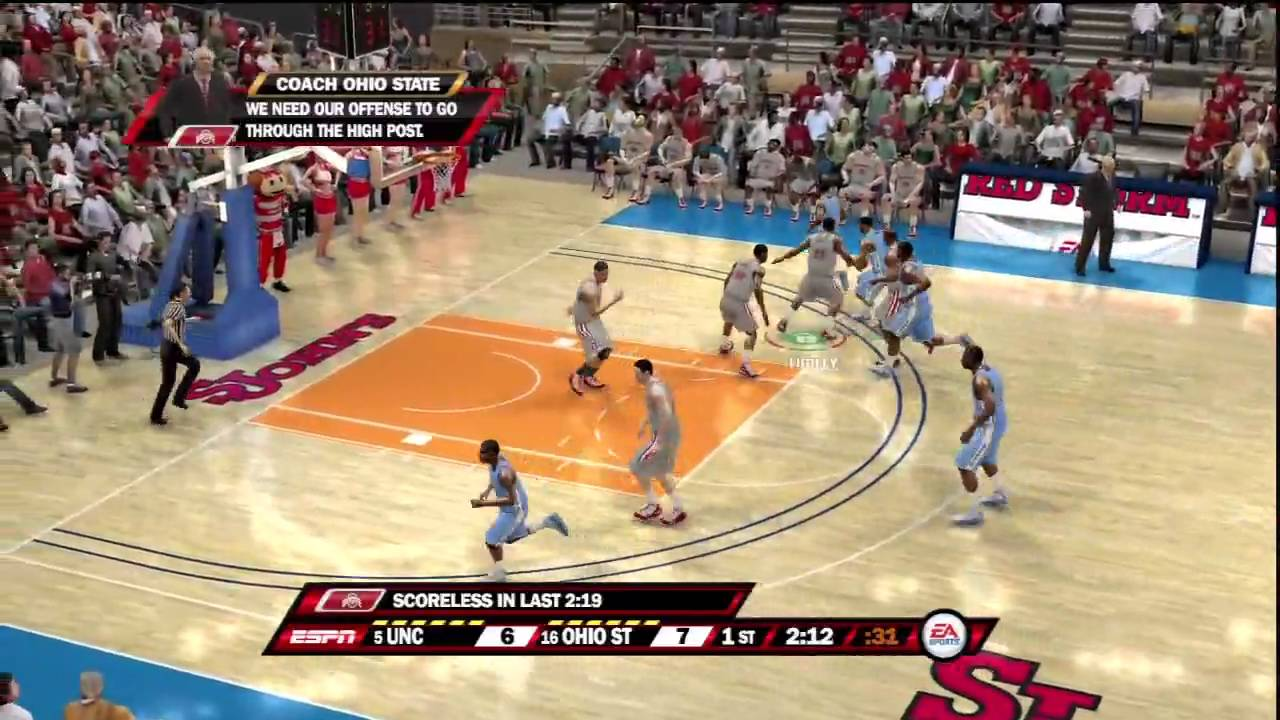 NCAA Basketball 10 (PS3) North Carolina vs. Ohio State ESPN - YouTube
