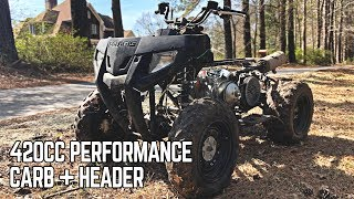 420cc ATV Performance Carb | OUR LOUDEST PROJECT EVER!