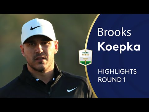 World Number One Brooks Koepka's first round back after injury | Abu Dhabi HSBC Golf Championship