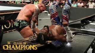 Randy Orton slams Kofi Kingston into the announce table: Clash of Champions 2019