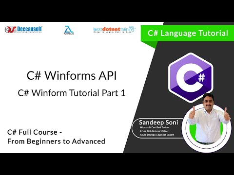 C# Training for beginners : WinForms Part 1 by bestdotnettraining.com