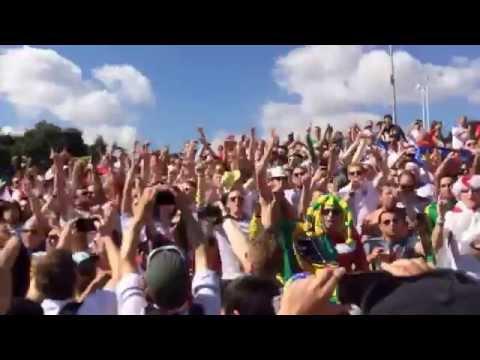 England fans chant