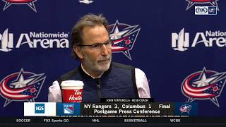 John Tortorella brief press conference following 4th straight loss | BLUE JACKETS-RANGERS POSTGAME