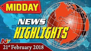 Mid Day News Highlights || 21st February 2018