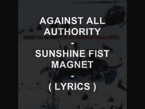 Against All Authority - Sunshine Fist Magnet