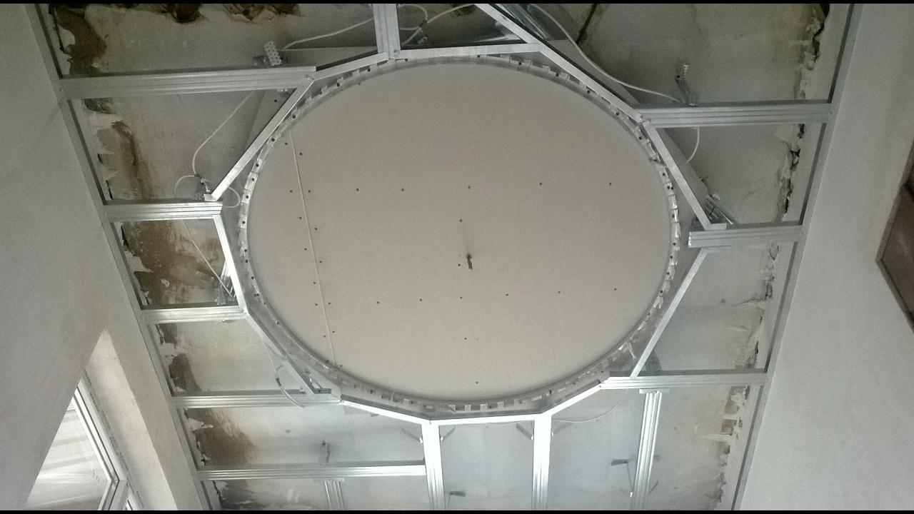 Как своими руками сделать с гипсокартона потолок 53