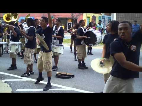 WESTSIDE HIGH SCHOOL Macon, Georgia Drumline pre-Cherry Blossom parade warm up